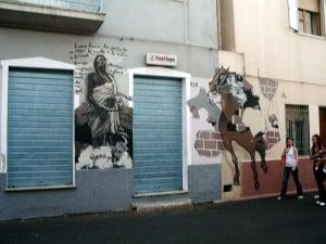 Peinture murale à Orgosolo, Sardaigne