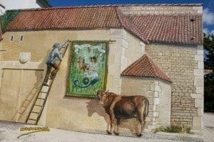 Clussais-La légende de Mélusine-fresque d'Armand Langlois